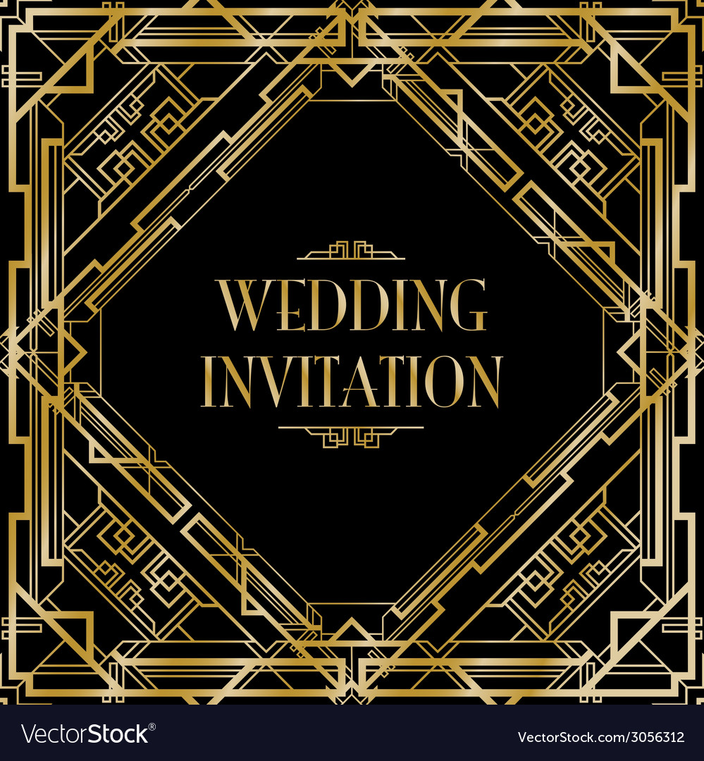 Art deco gatsby wedding vector | Price: 1 Credit (USD $1)