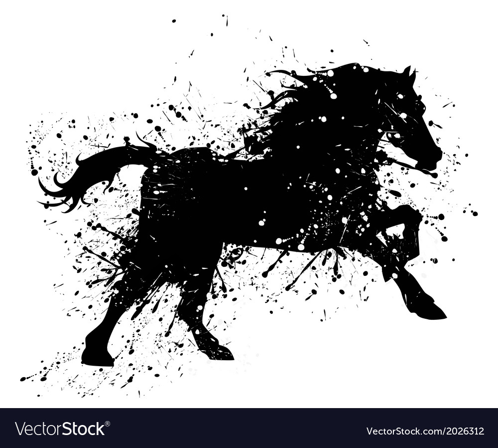 Artistic horse painting vector | Price: 1 Credit (USD $1)