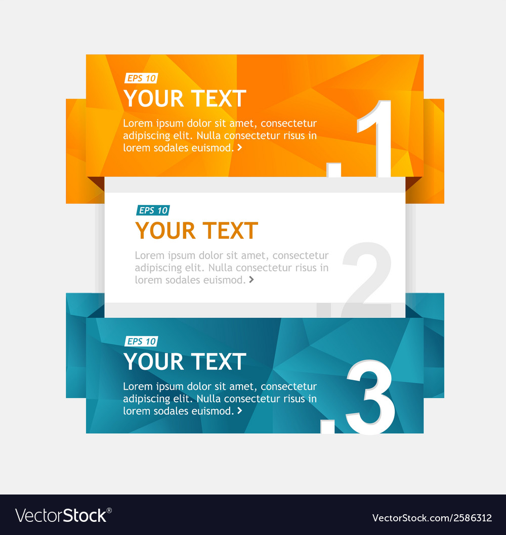 Colorful text boxes infographics options banner vector | Price: 1 Credit (USD $1)