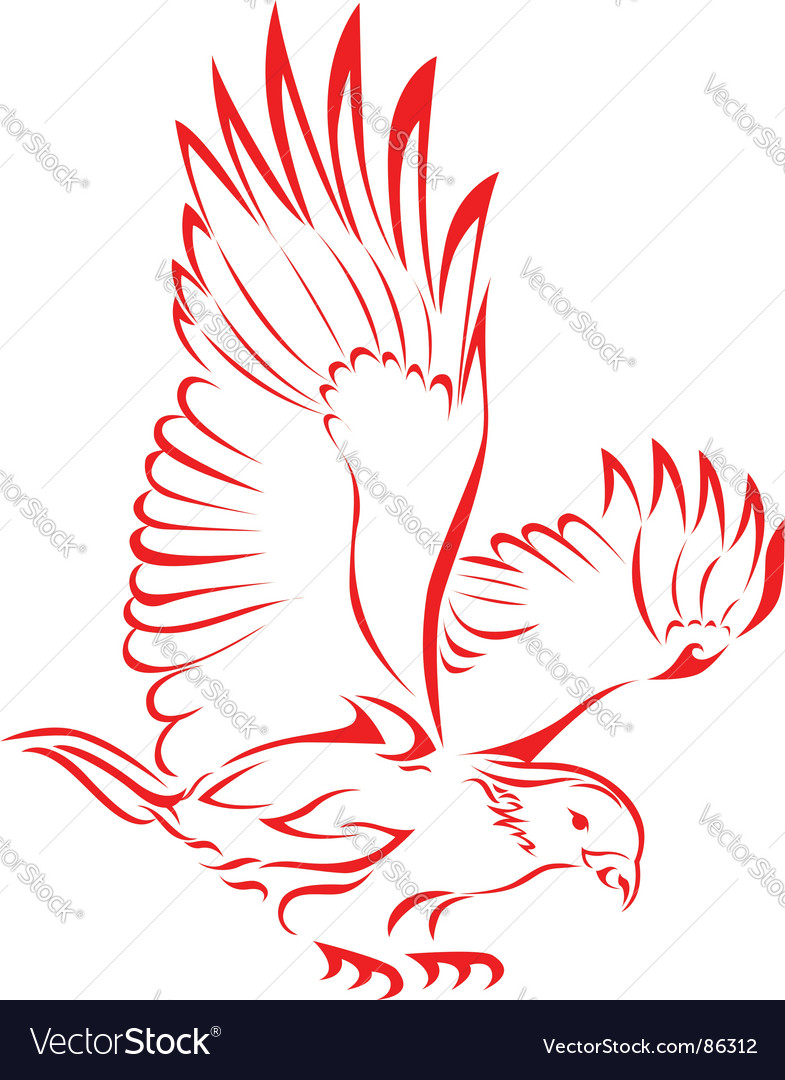 Eagle tattoo vector | Price: 1 Credit (USD $1)