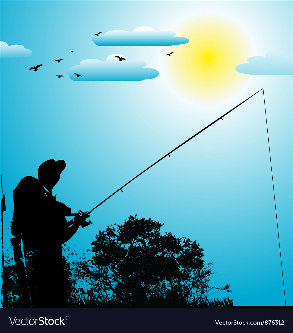 Fishing background vector | Price: 1 Credit (USD $1)