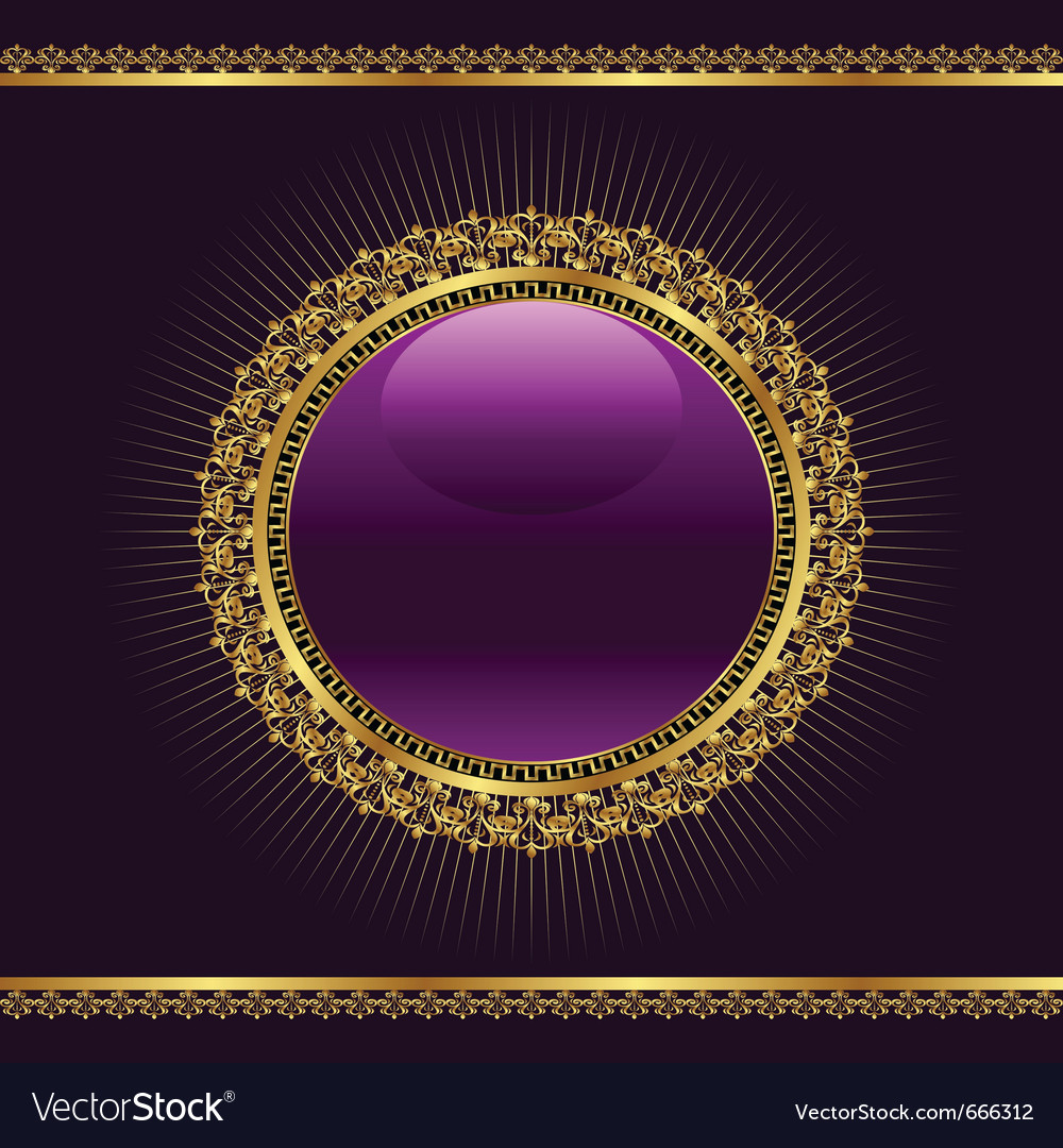 Golden ornamental medallion vector | Price: 3 Credit (USD $3)