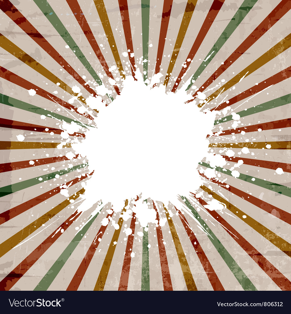 Grunge starburst background vector | Price: 1 Credit (USD $1)