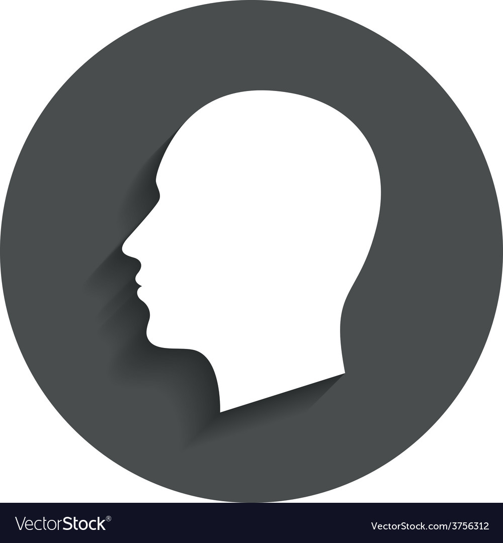 Head sign icon male human head vector | Price: 1 Credit (USD $1)