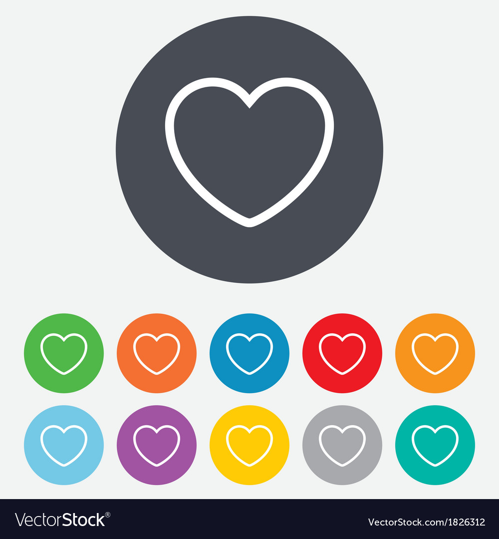 Heart sign icon love symbol vector | Price: 1 Credit (USD $1)