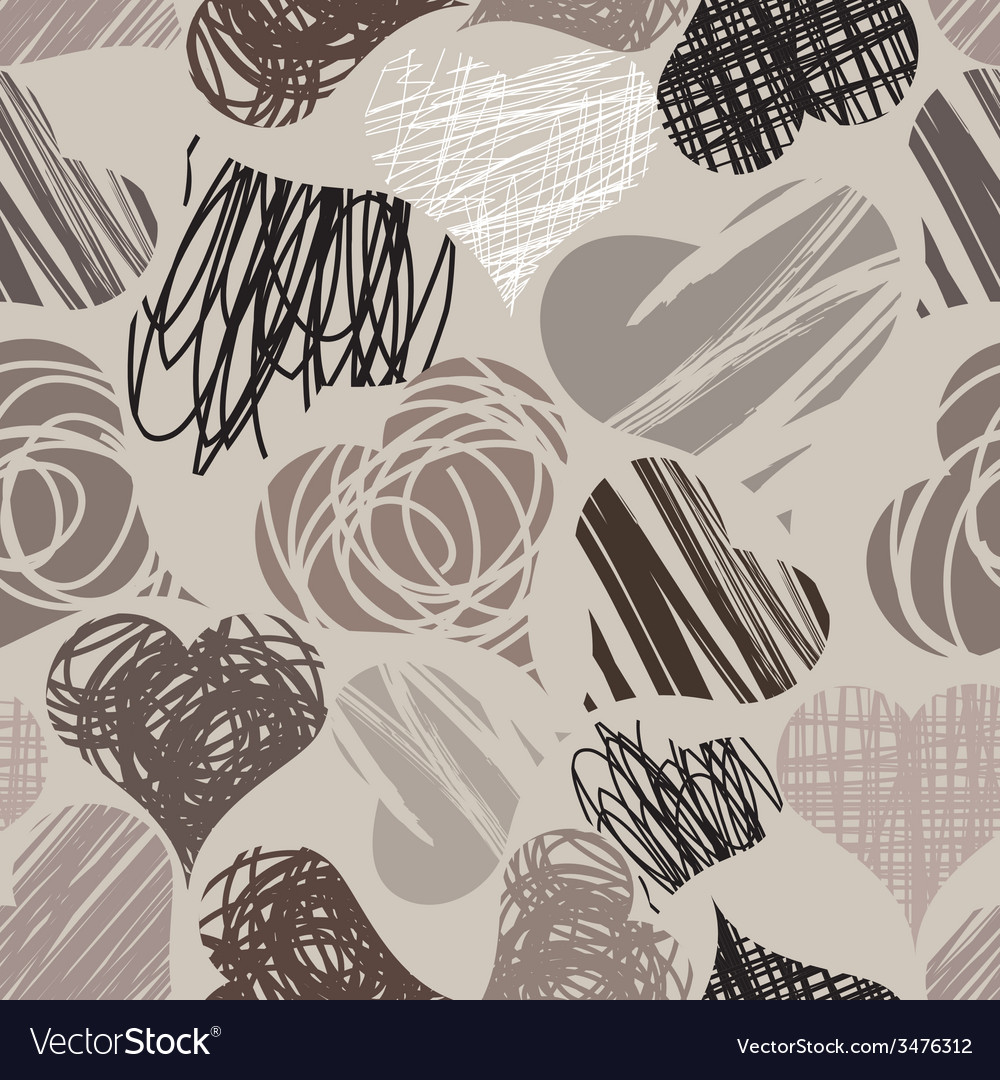Hearts of doodle vector | Price: 1 Credit (USD $1)