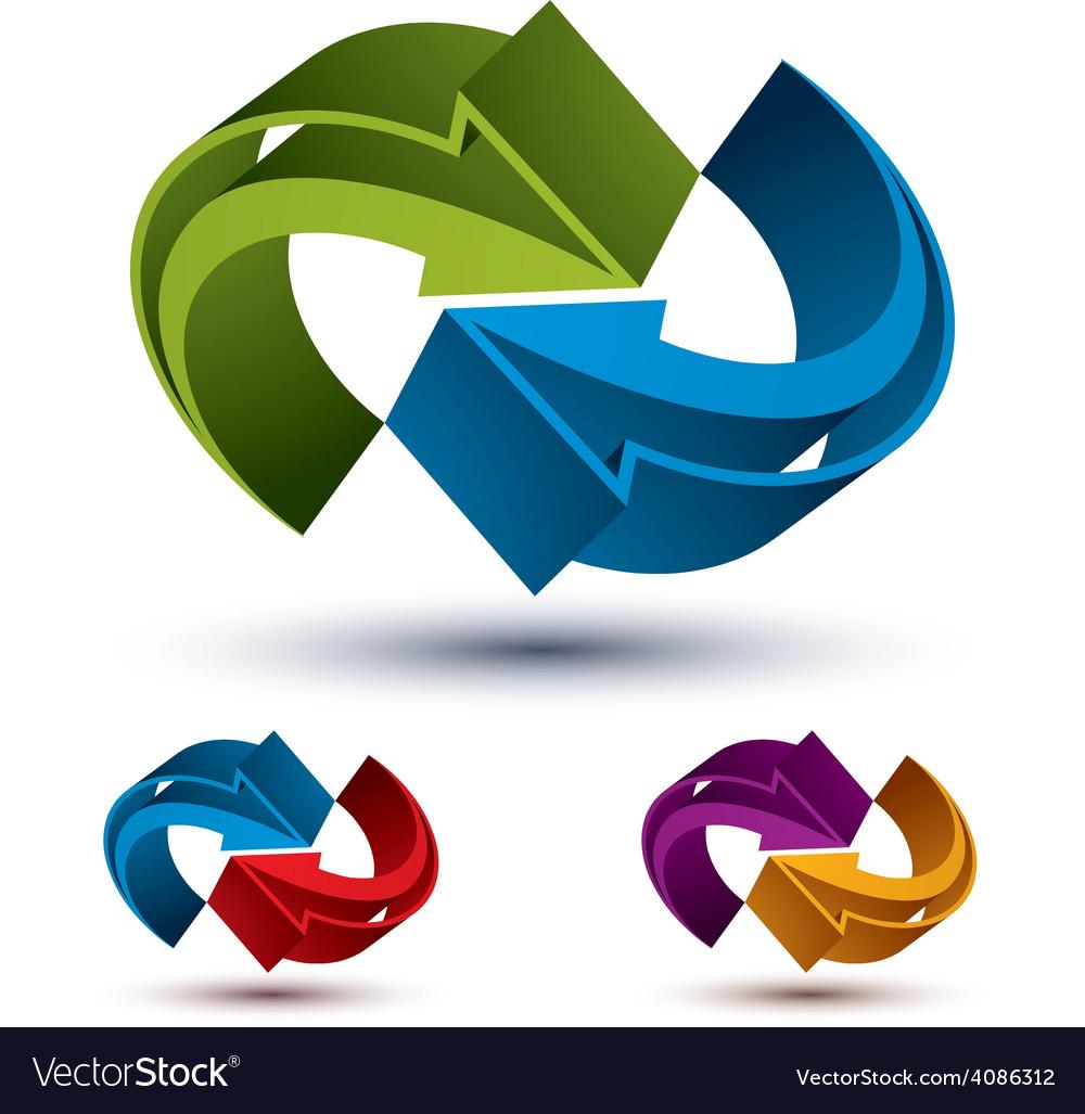 Infinite loop arrows abstract symbol graphic vector | Price: 1 Credit (USD $1)