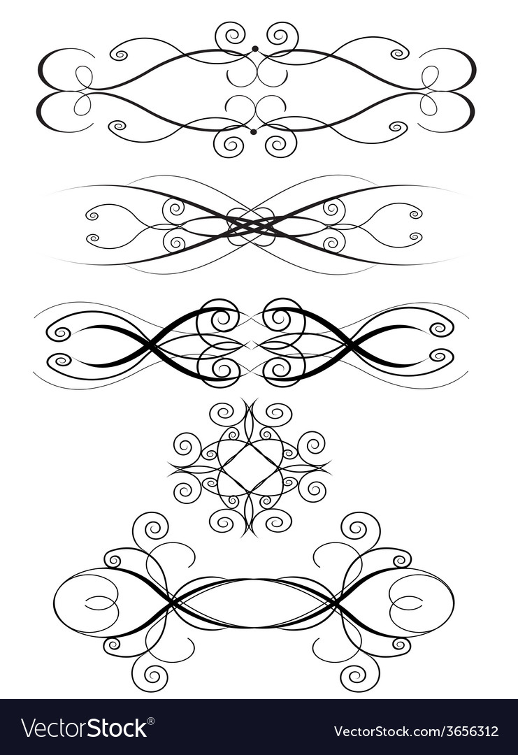 Ornament set 4 vector | Price: 1 Credit (USD $1)