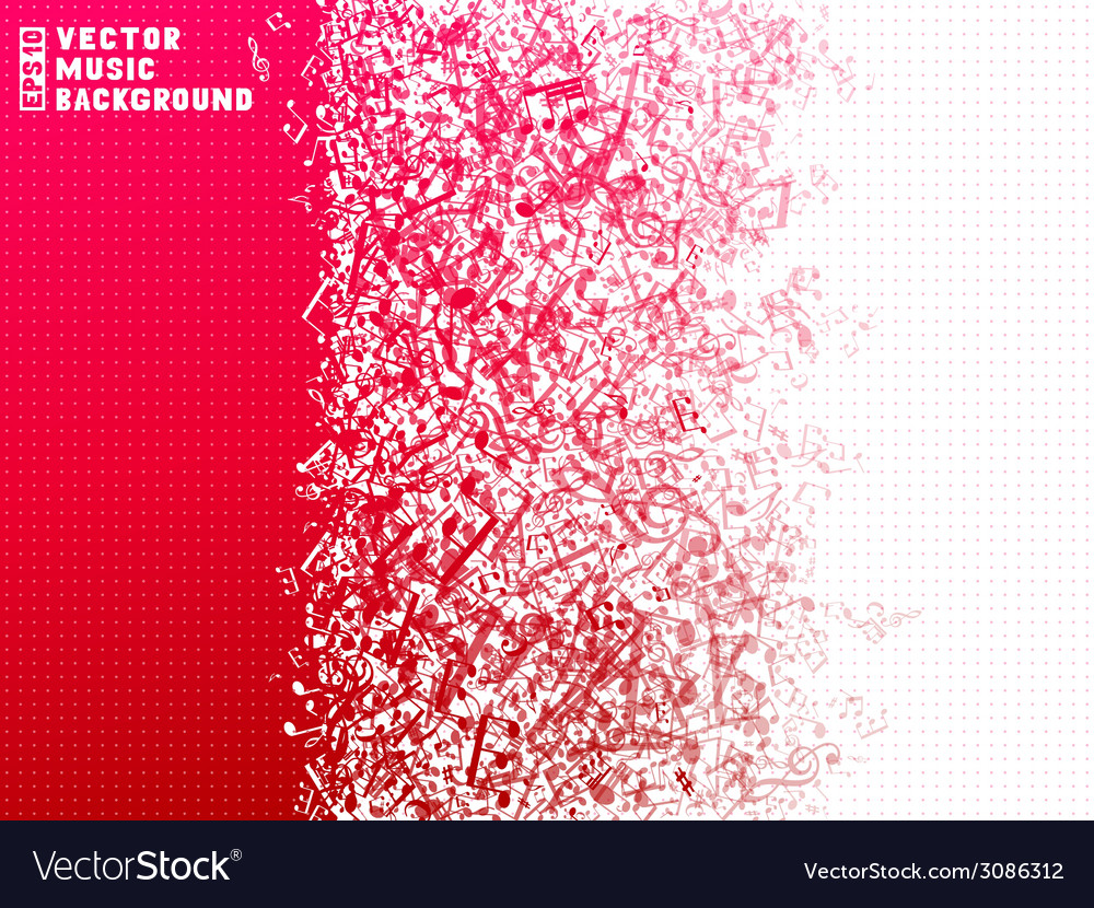 Red and white music background vector | Price: 1 Credit (USD $1)