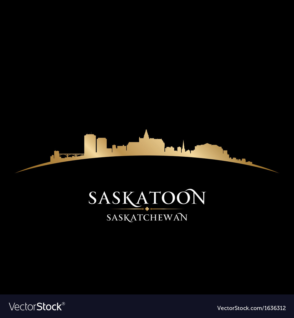Saskatoon saskatchewan canada city skyline silhoue vector | Price: 1 Credit (USD $1)