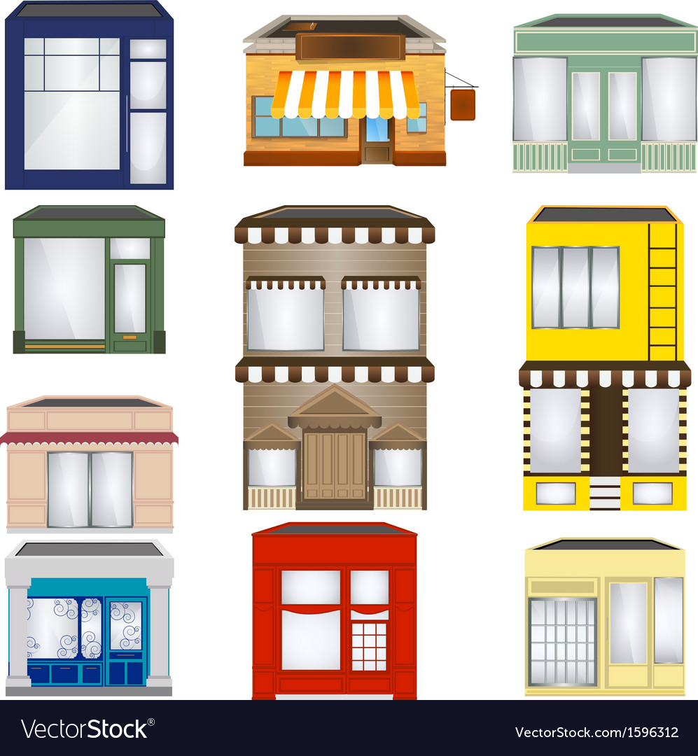Shop set vector | Price: 1 Credit (USD $1)