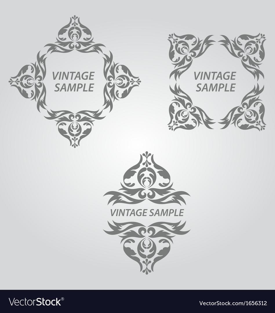 Vintage design elements vector | Price: 1 Credit (USD $1)