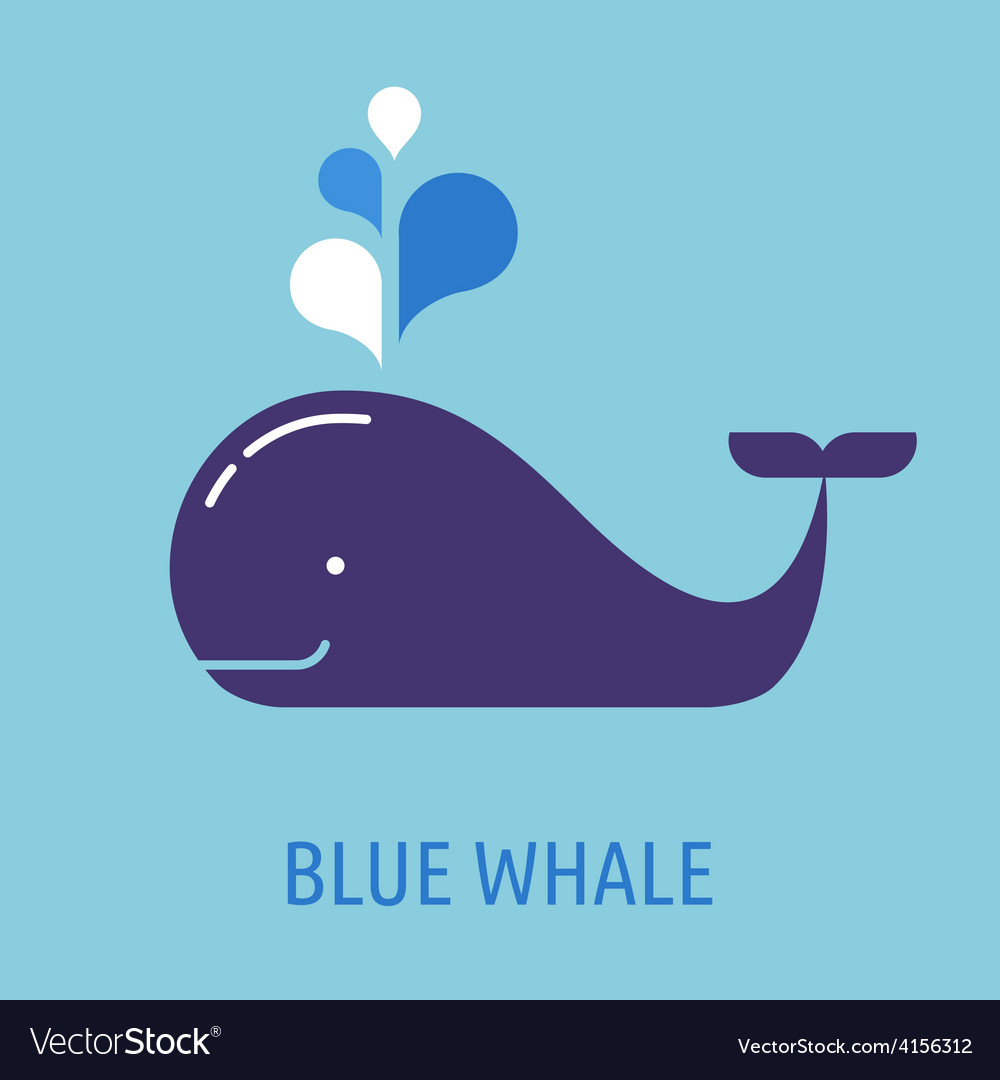 Whale icon with speech bubbles vector | Price: 1 Credit (USD $1)
