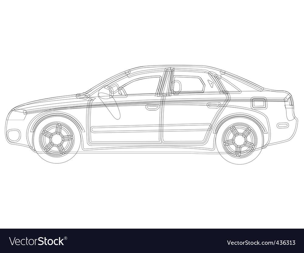Auto sketch vector | Price: 1 Credit (USD $1)