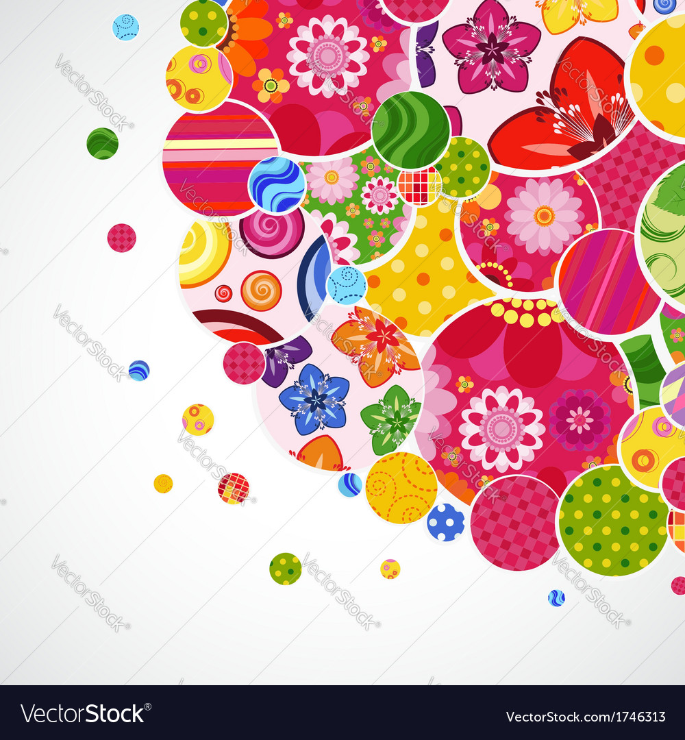 Background with floral and ornamental circles vector   Price: 1 Credit (USD $1)