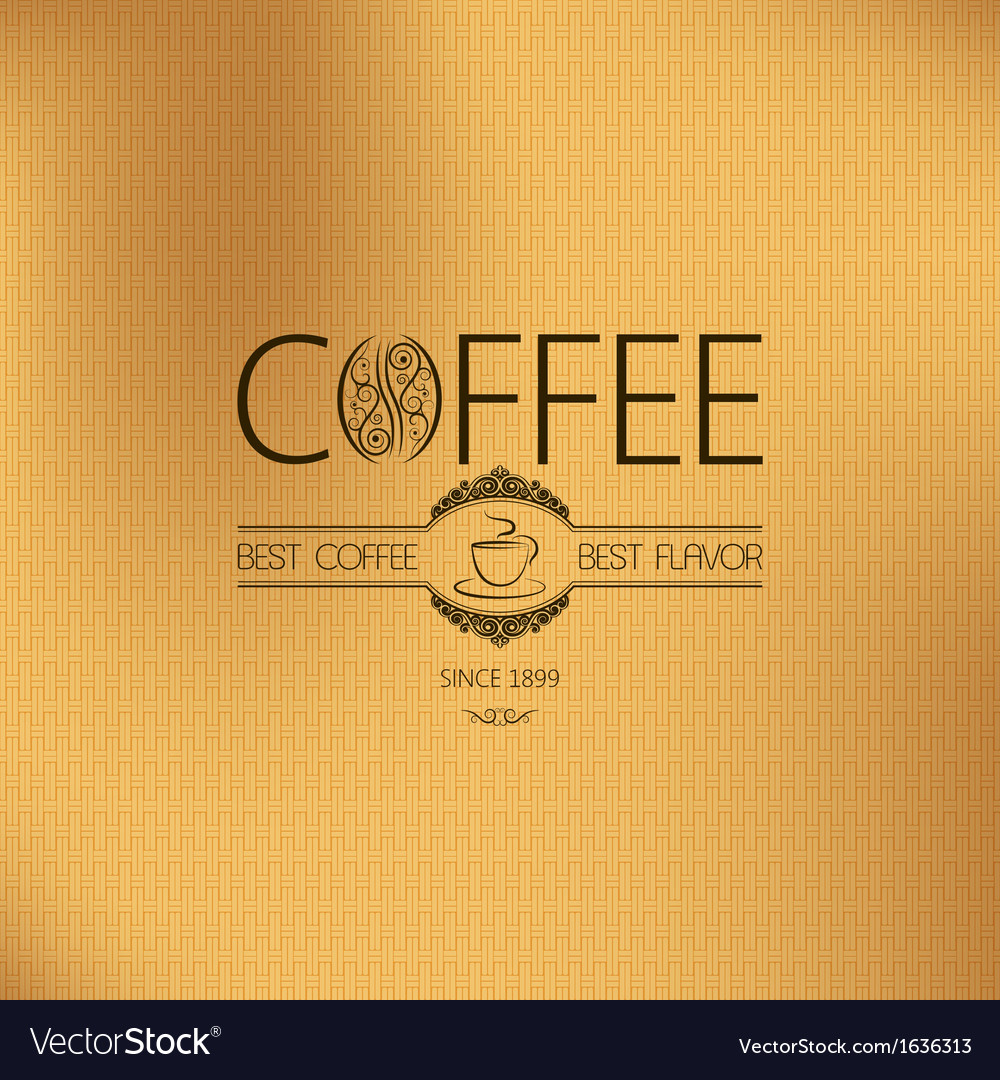 Coffee vintage label vector | Price: 1 Credit (USD $1)