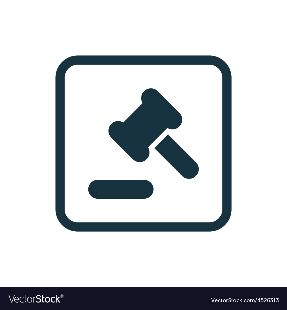 Court law icon rounded squares button vector | Price: 1 Credit (USD $1)