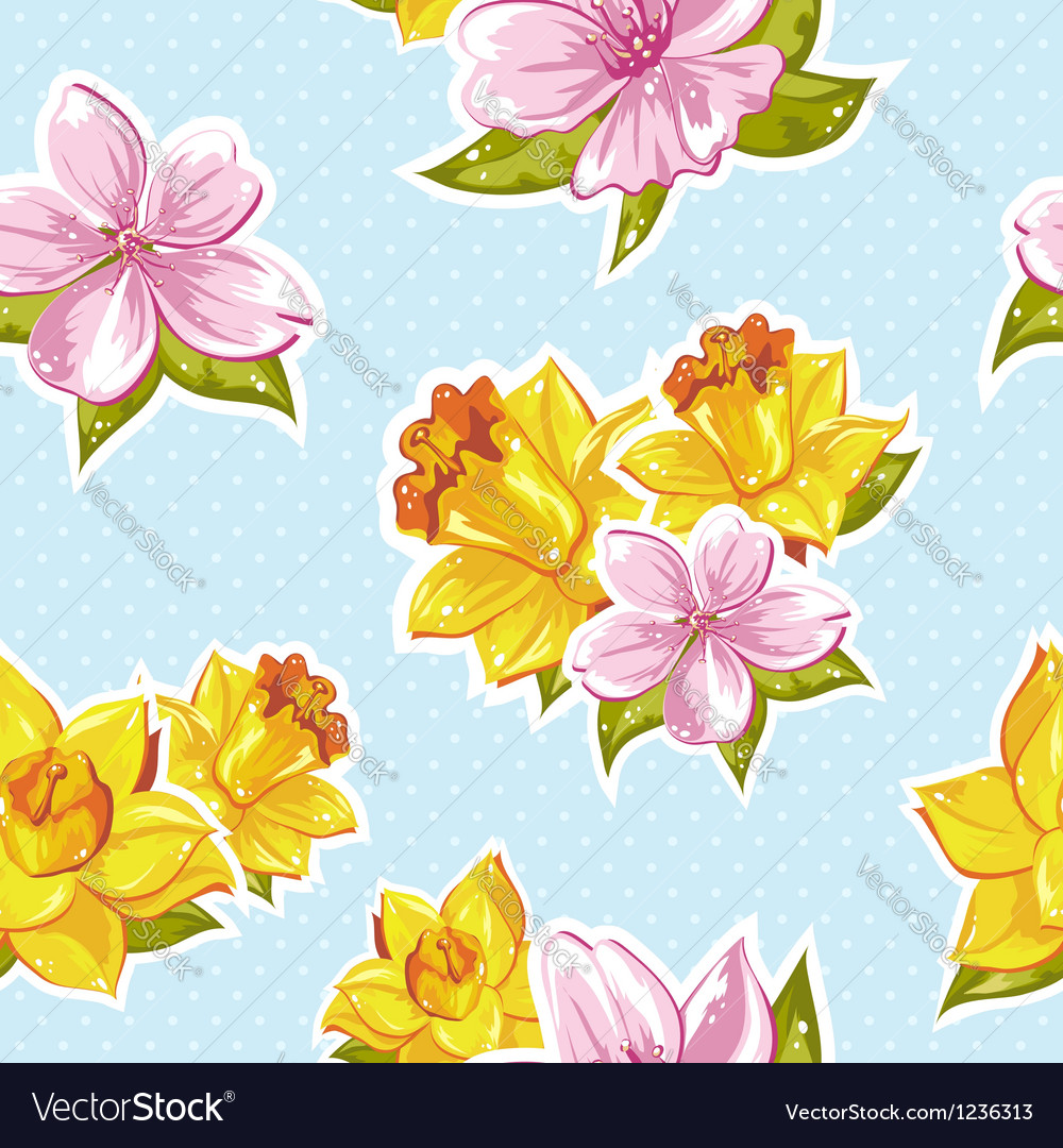 Elegant stylish spring floral seamless pattern vector | Price: 3 Credit (USD $3)