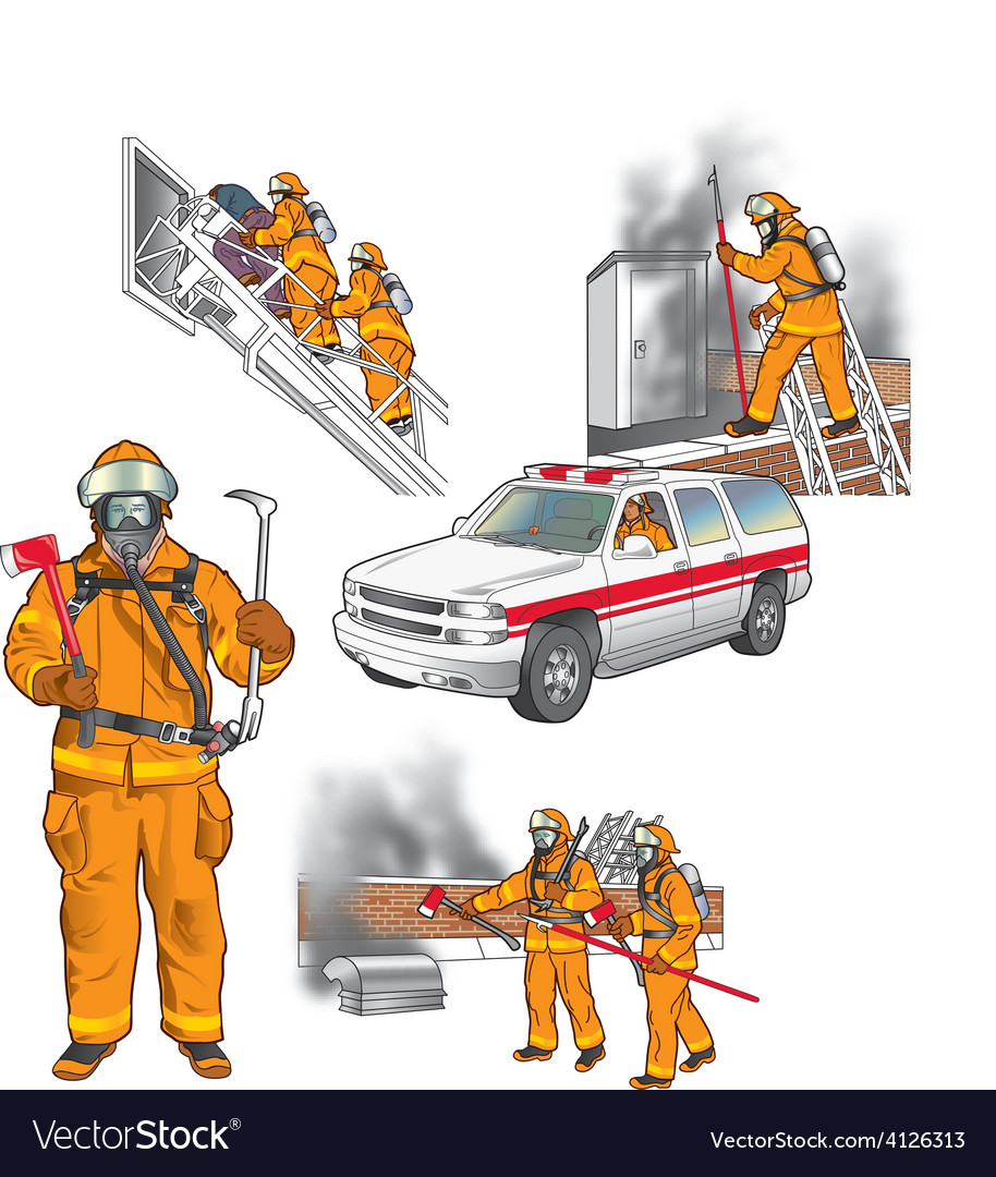 First responders art 005 vector | Price: 3 Credit (USD $3)