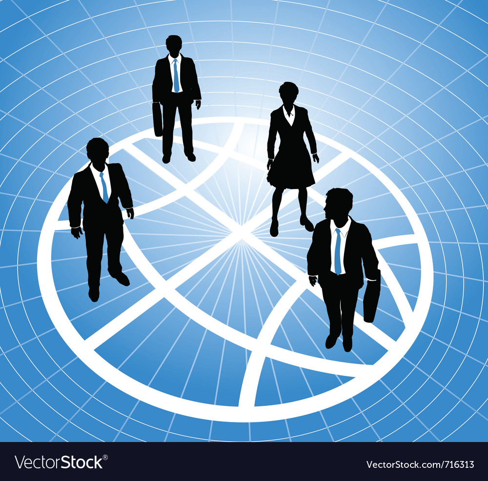 Group of business people vector | Price: 1 Credit (USD $1)