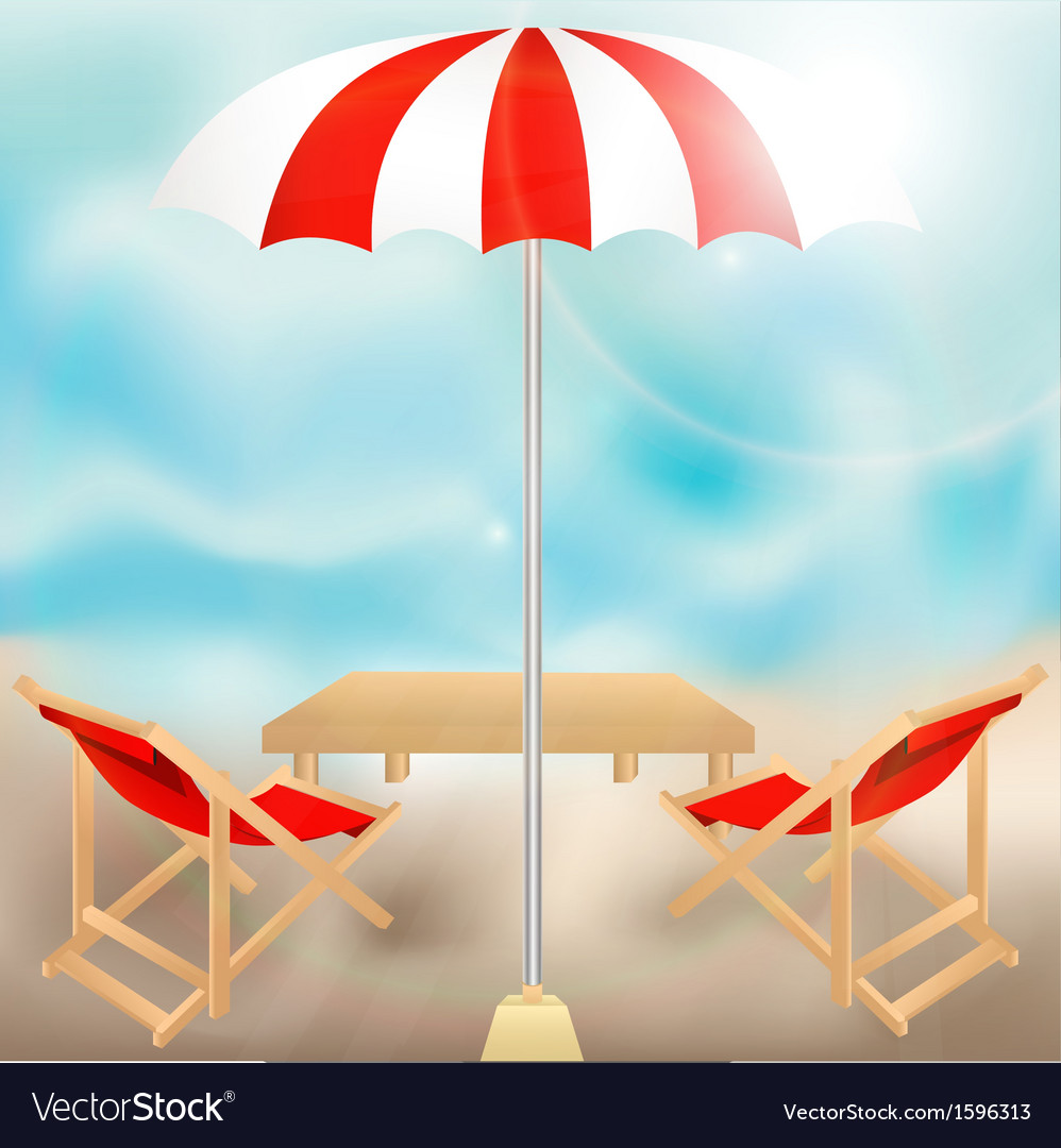 Seat in summer vector | Price: 1 Credit (USD $1)