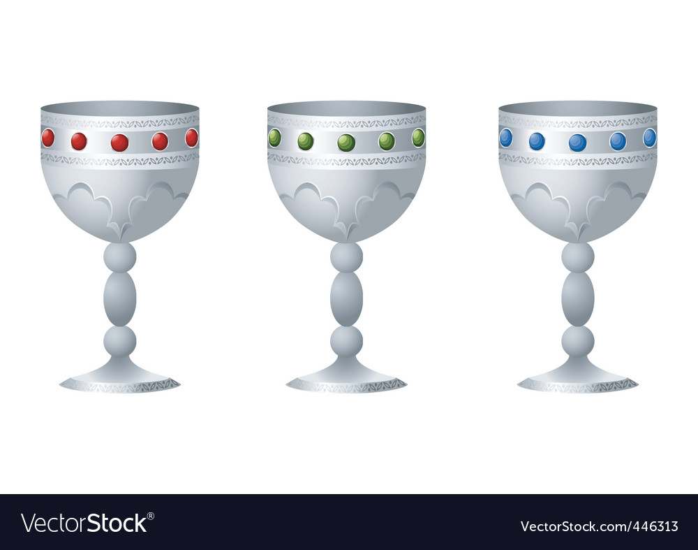 Silver goblet vector | Price: 1 Credit (USD $1)