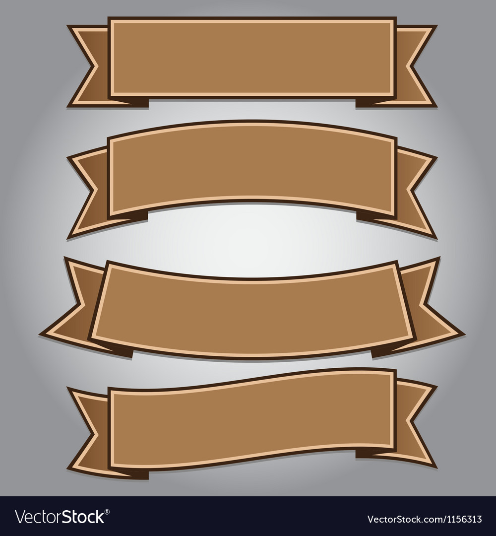 Vintage brown ribbon banner vector | Price: 1 Credit (USD $1)
