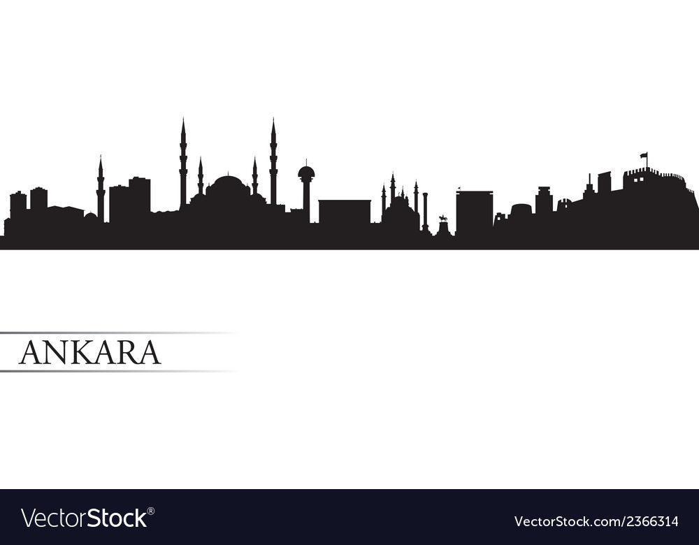 Ankara city skyline silhouette background vector | Price: 1 Credit (USD $1)