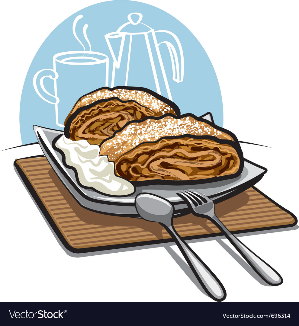 Apple strudel vector | Price: 3 Credit (USD $3)