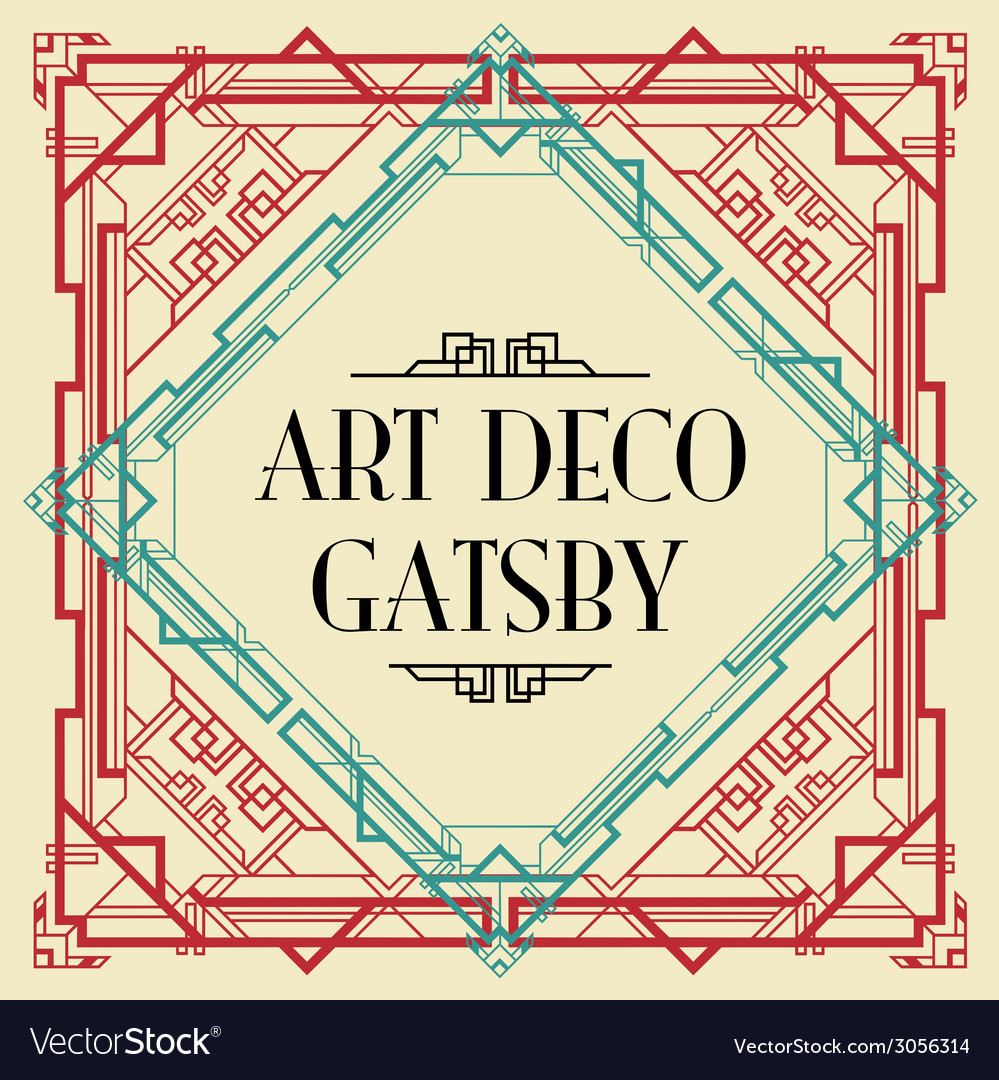 Art deco gatsby wedding invite vector | Price: 1 Credit (USD $1)
