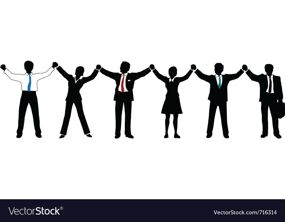 Business people line up vector | Price: 1 Credit (USD $1)