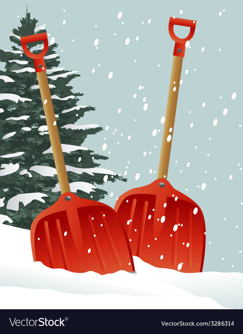 Christmas shovels vector | Price: 1 Credit (USD $1)