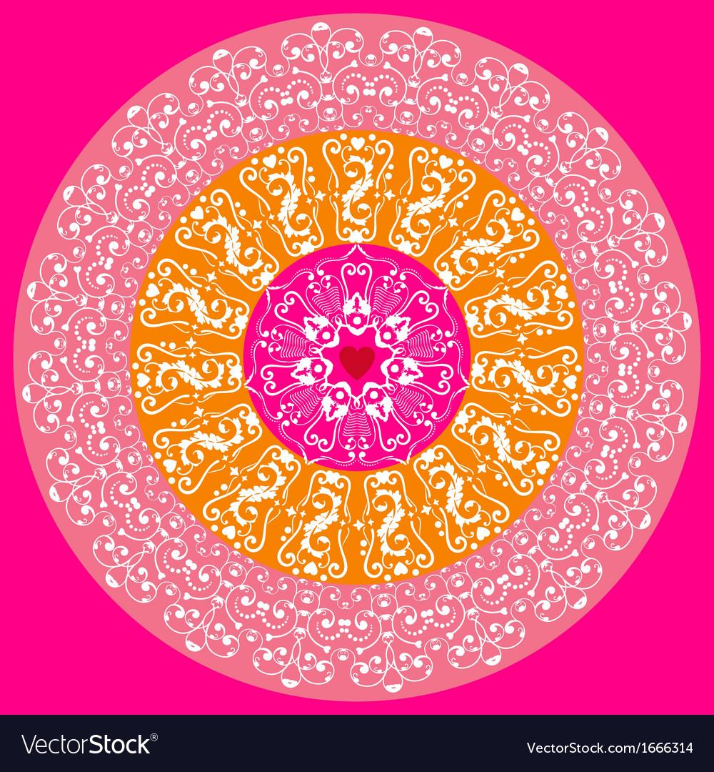 Circle lace ornament vector | Price: 1 Credit (USD $1)