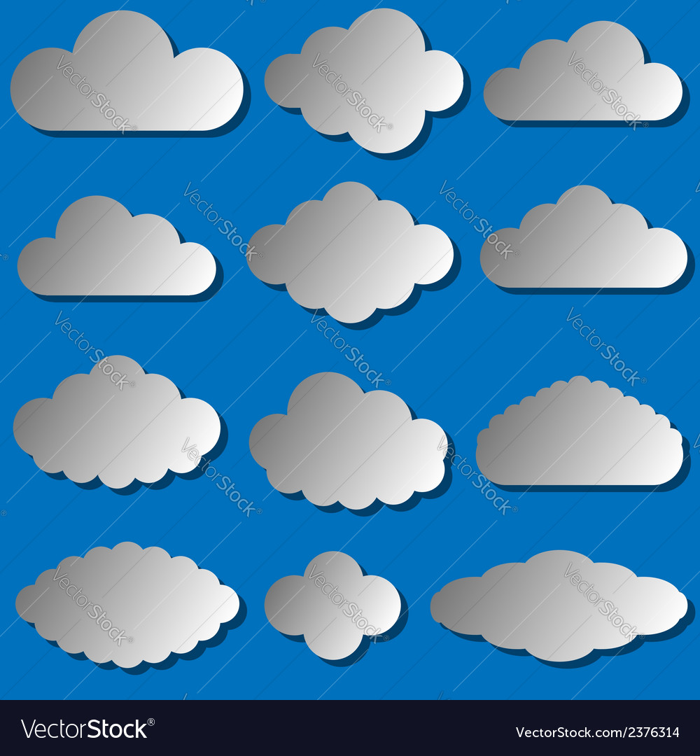 Clouds set vector | Price: 1 Credit (USD $1)