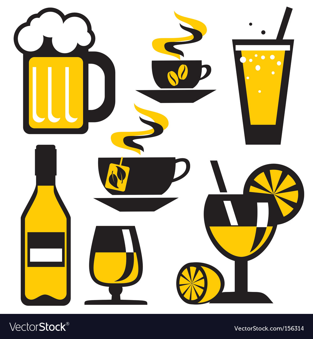 Icons drink vector | Price: 1 Credit (USD $1)