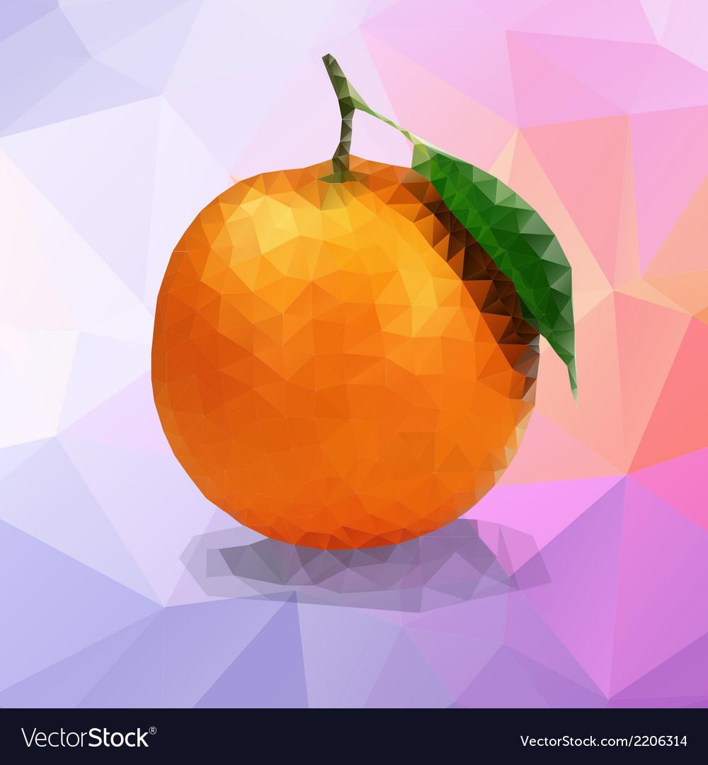 Orange polygon vector   Price: 1 Credit (USD $1)