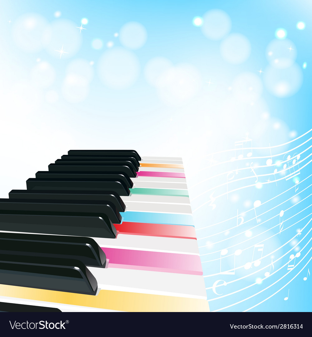 Piano musical background vector | Price: 1 Credit (USD $1)