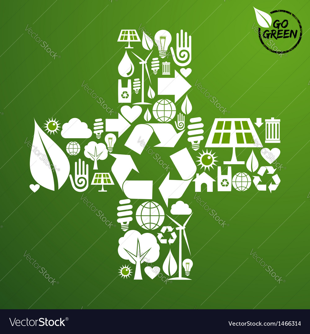 Plus shape green background vector   Price: 1 Credit (USD $1)