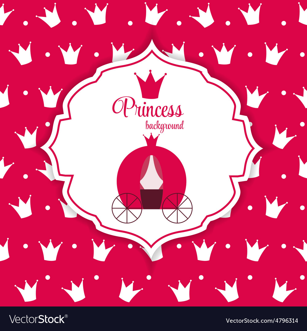 Princess crown background vector | Price: 1 Credit (USD $1)