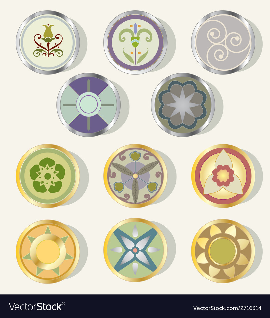 Round design elements vector | Price: 1 Credit (USD $1)