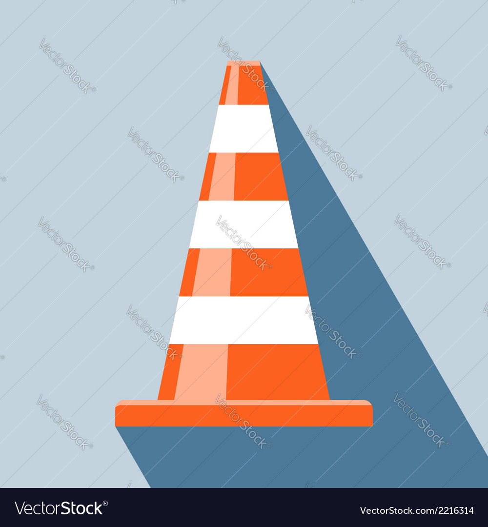 Traffic cones icon vector | Price: 1 Credit (USD $1)