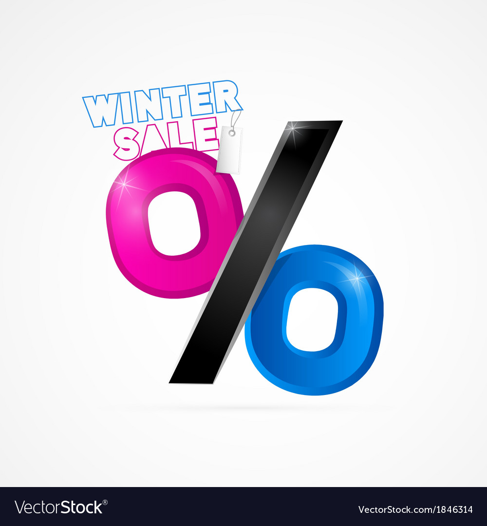 Winter sale object isolated on white background vector | Price: 1 Credit (USD $1)