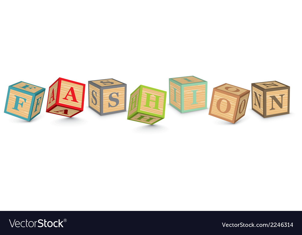 Word fashion written with alphabet blocks vector | Price: 1 Credit (USD $1)