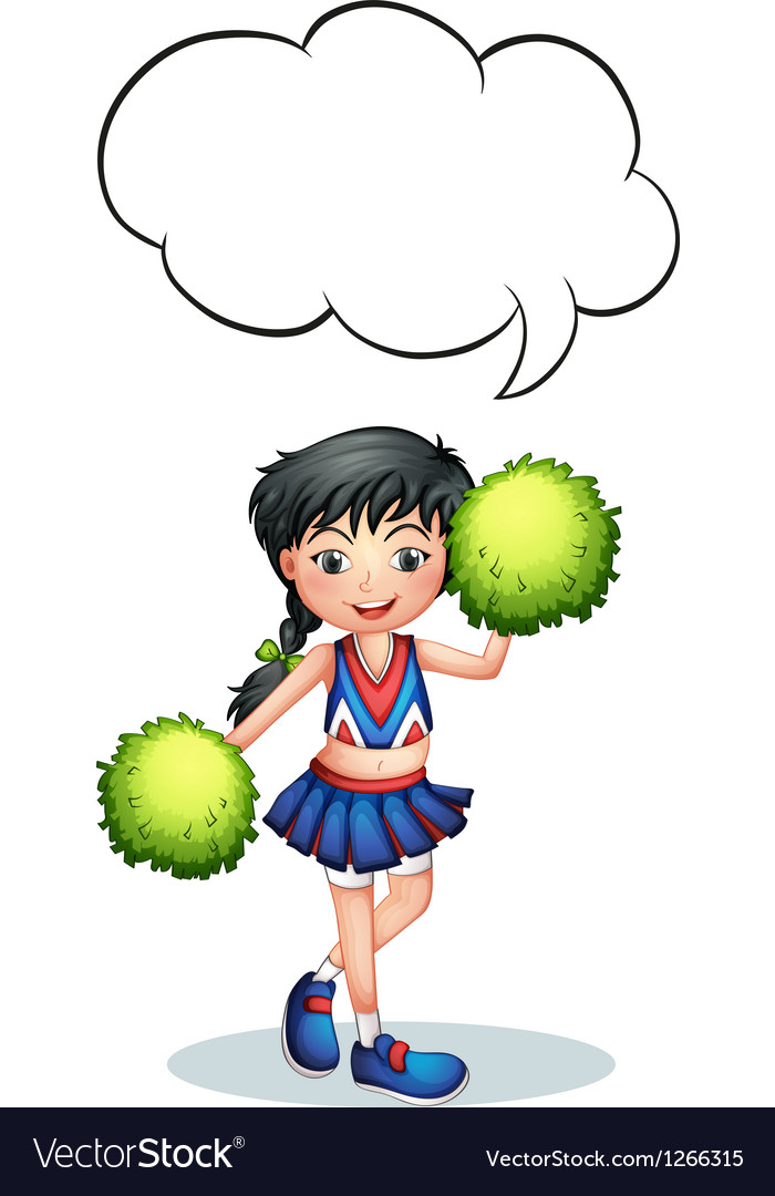 A cheerleader with an empty callout vector | Price: 1 Credit (USD $1)