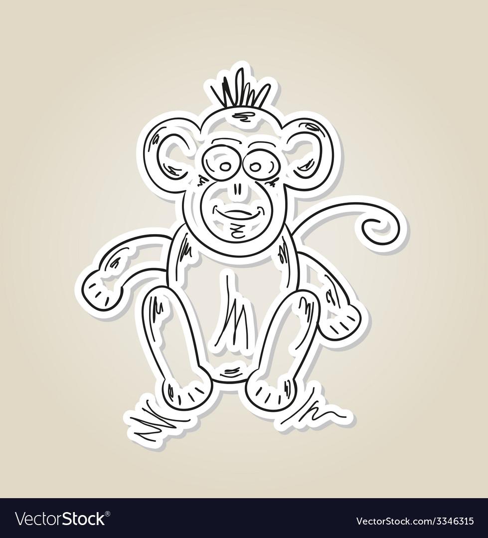 Ape sketch vector | Price: 1 Credit (USD $1)