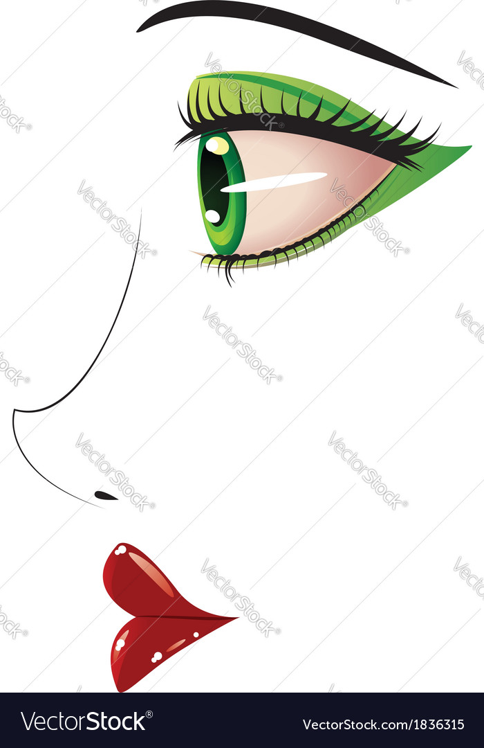 Female face in profile vector