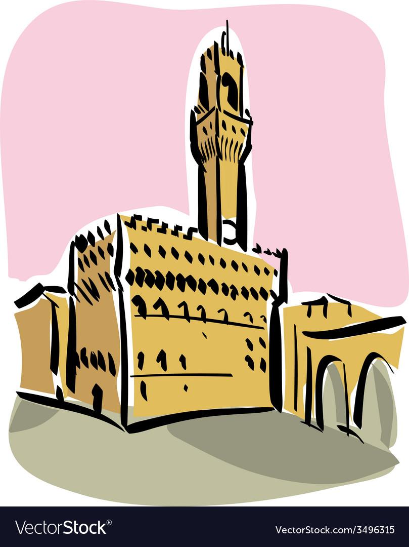 Florence piazza della signoria vector | Price: 1 Credit (USD $1)