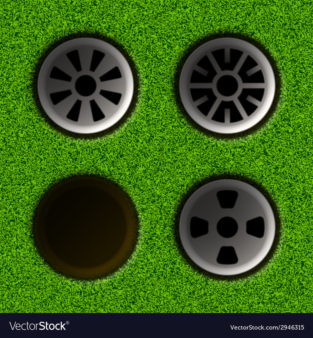 Golf hole vector | Price: 1 Credit (USD $1)