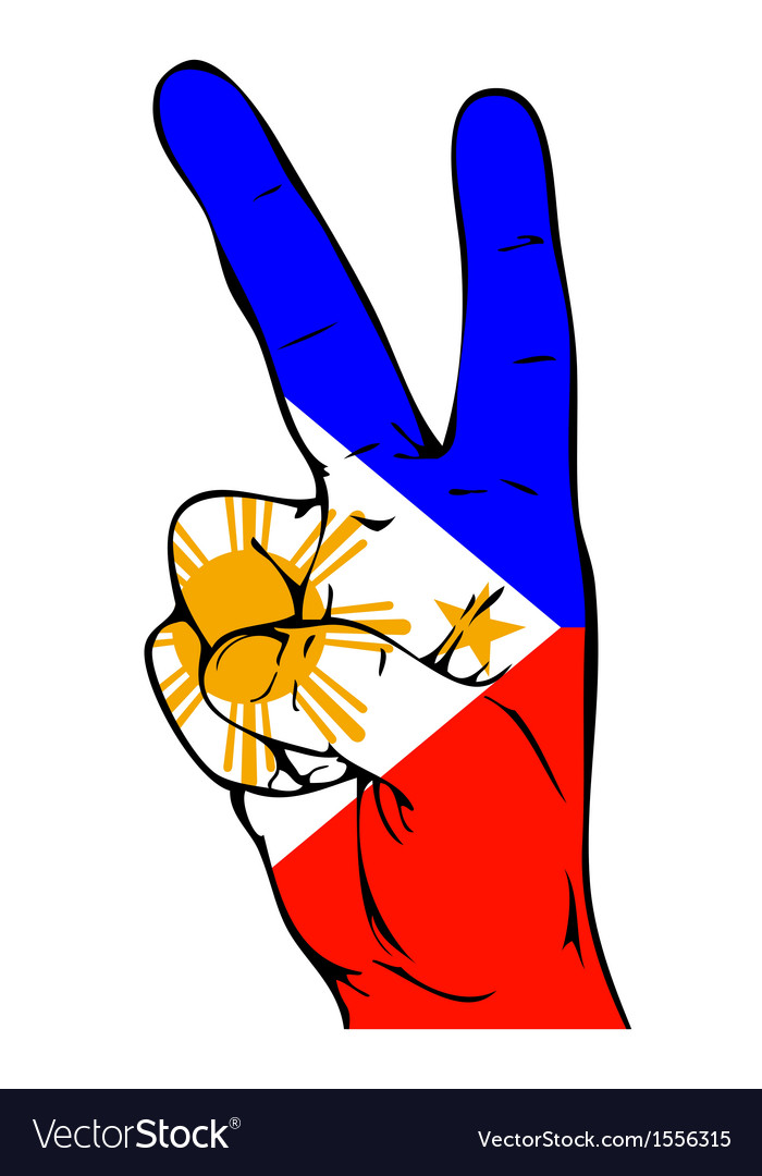 Peace sign of the philippine flag vector | Price: 1 Credit (USD $1)