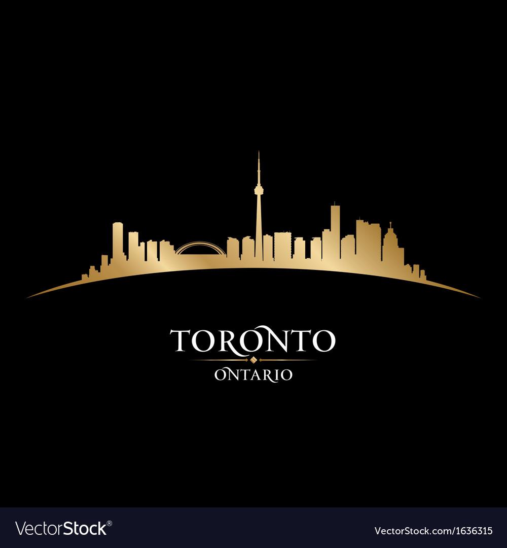 Toronto ontario canada city skyline silhouette vector | Price: 1 Credit (USD $1)